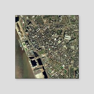 Liverpool, UK, aerial image - Square Sticker 3