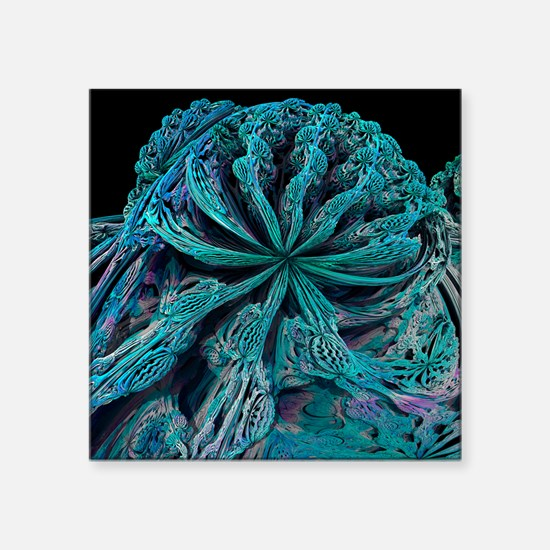 Mandelbulb fractal - Square Sticker 3
