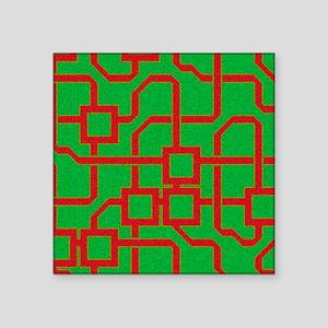 Microchip, artwork - Square Sticker 3