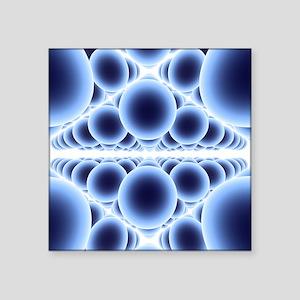 Nanospheres, computer artwork - Square Sticker 3