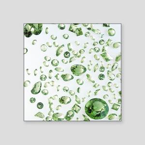 Peridot gemstones - Square Sticker 3