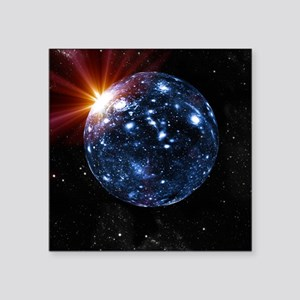 Spherical universe, artwork - Square Sticker 3