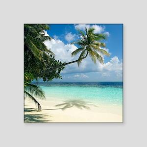 Tropical beach - Square Sticker 3