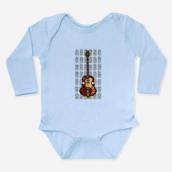 KuuMa Guitar 06 Long Sleeve Infant Bodysuit