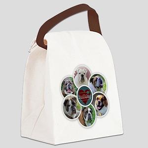 English Bulldog collage Canvas Lunch Bag