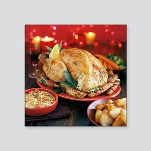 Christmas dinner - Square Sticker 3