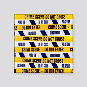 Crime scene tape - Square Sticker 3