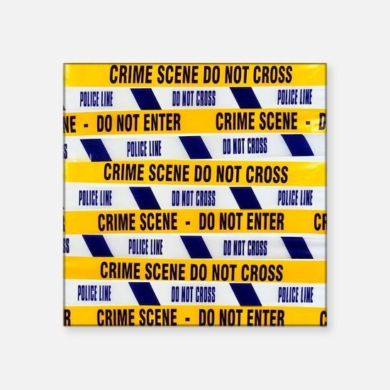 Crime scene tape - Square Sticker 3