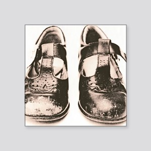 Child's worn shoes - Square Sticker 3