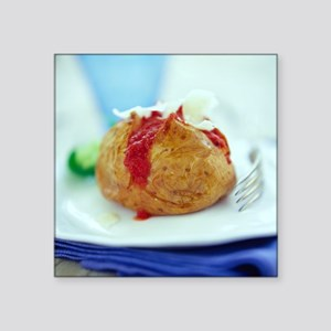 Filled jacket potato - Square Sticker 3