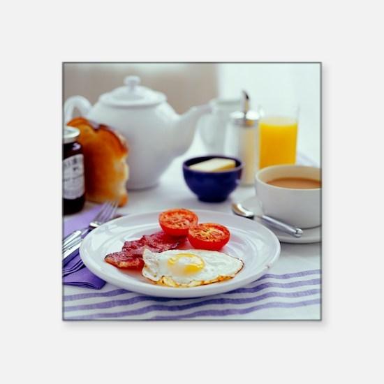 Fried breakfast - Square Sticker 3