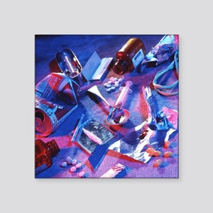 Drug abuse - Square Sticker 3