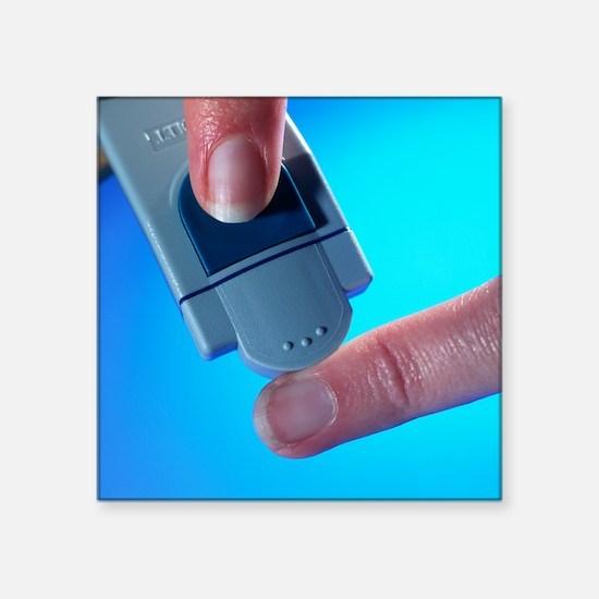 Blood glucose testing - Square Sticker 3