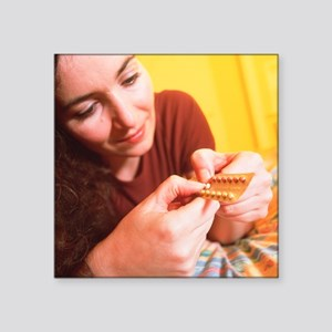 Contraceptive pills - Square Sticker 3