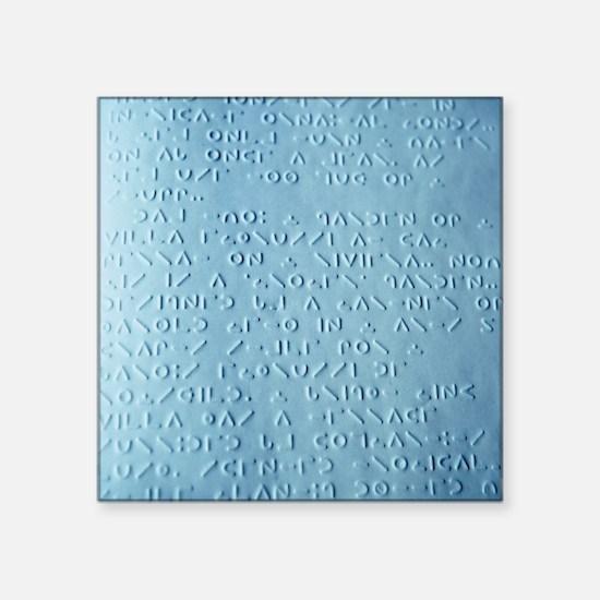 Moon braille - Square Sticker 3