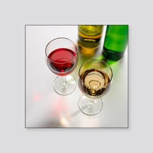 Red and white wine - Square Sticker 3