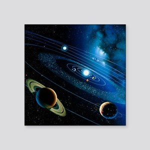 Artwork of the solar system - Square Sticker 3
