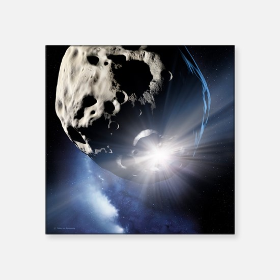 Asteroid deflection, impact flash - Square Sticker