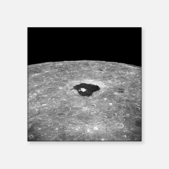 Lunar far side crater Tsiolkovsky - Square Sticker