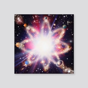Quantised orbits of the planets - Square Sticker 3