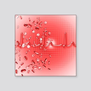 Red blood cells and ECG - Square Sticker 3
