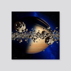 Saturn's ring system - Square Sticker 3