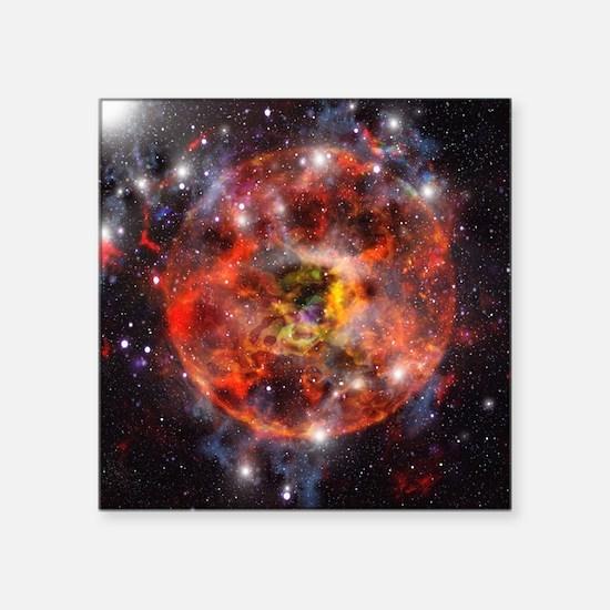 Star formation, computer artwork - Square Sticker