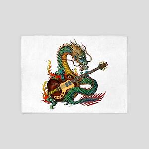 Ryuu Guitar 06 5'x7'Area Rug