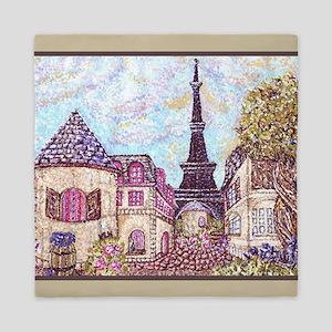 Paris Eiffel Tower inspired pointillism landscape