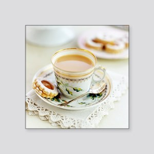 Tea and biscuits - Square Sticker 3
