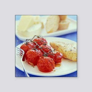 Tomatoes and chicken - Square Sticker 3