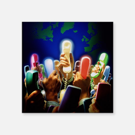 Conceptual image of global communication - Square