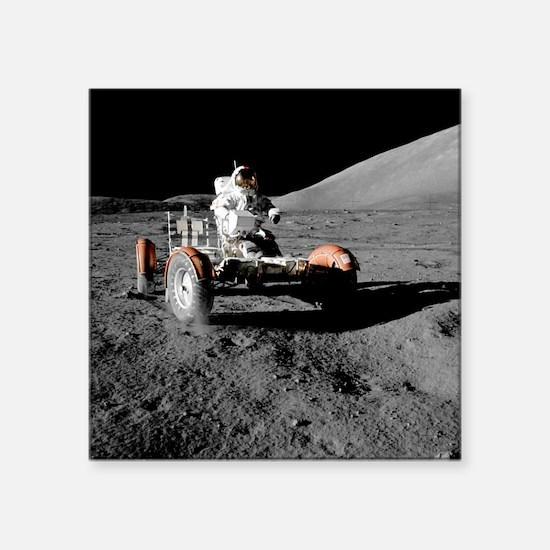 Eugene an on Lunar Rover, Apollo 17 - Square Stick