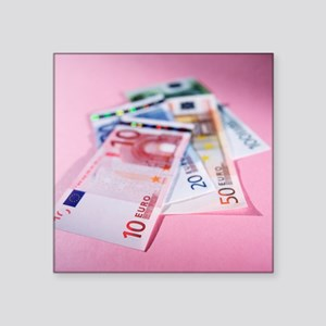 Euro bank notes - Square Sticker 3