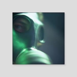Gas mask - Square Sticker 3