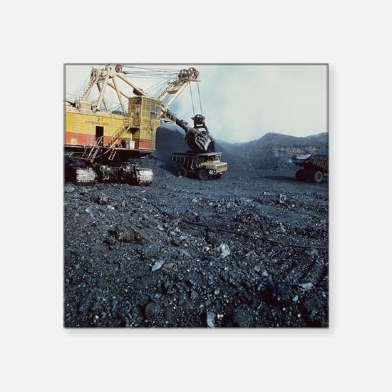 Open cast coal mining - Square Sticker 3