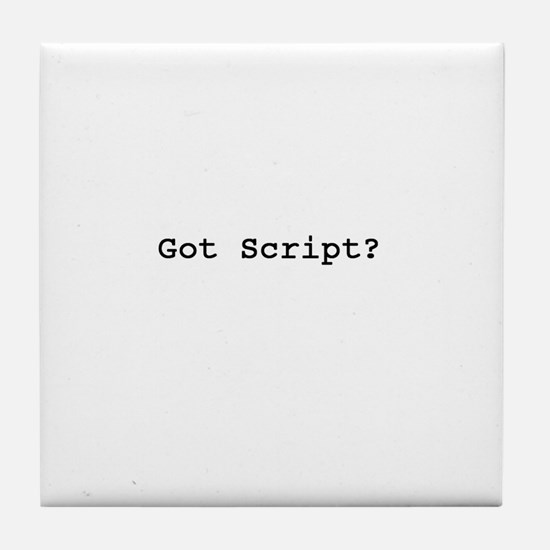 The Screenwriter Tile Coaster