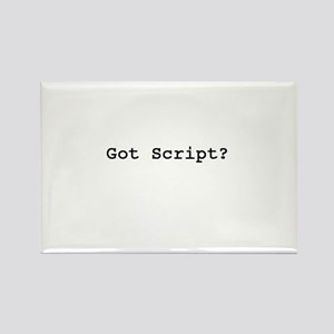 The Screenwriter Rectangle Magnet