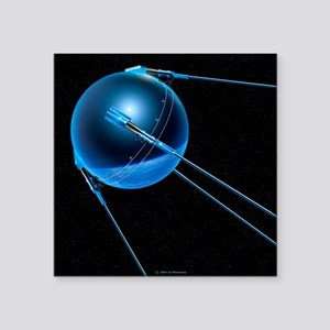 Sputnik 1 satellite - Square Sticker 3