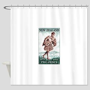 Vintage 1955 New Zealand Maori Mailman Stamp Showe