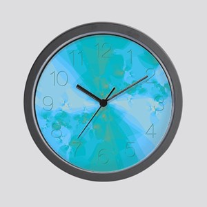 Shattered in Light Blue Clock Lge Numbers Wall Clo