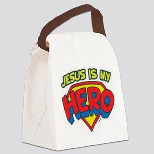 Jesus is my hero Canvas Lunch Bag