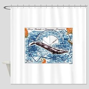 1996 FSAT Whale Sanctuary Postage Stamp Shower Cur
