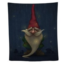Old Christmas Gnome Wall Tapestry