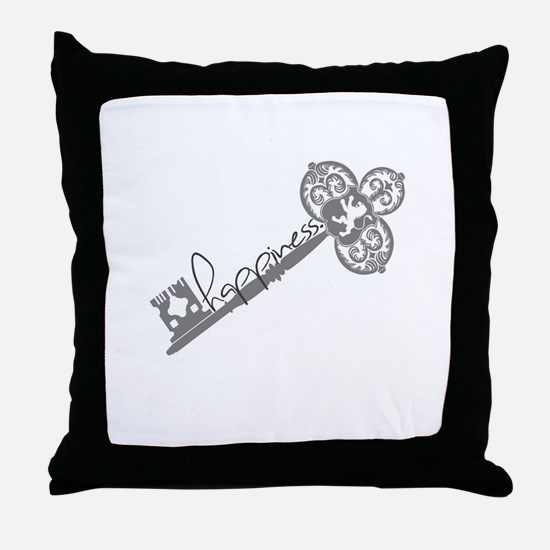 The Key To Happiness Throw Pillow