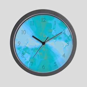 Shattered in Light Blue Clock Wall Clock