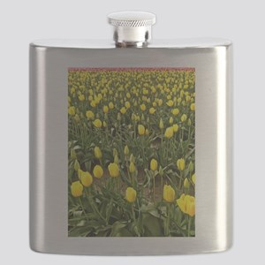 Yellow Field of Tulips Flask