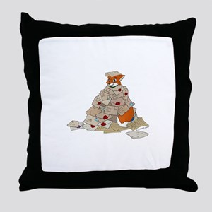 Mail fox Throw Pillow