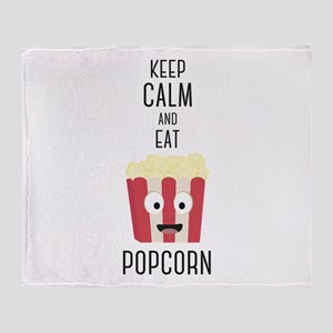 Eat Popocorn Throw Blanket