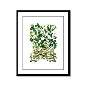Celtic Shamrock Framed Panel Print